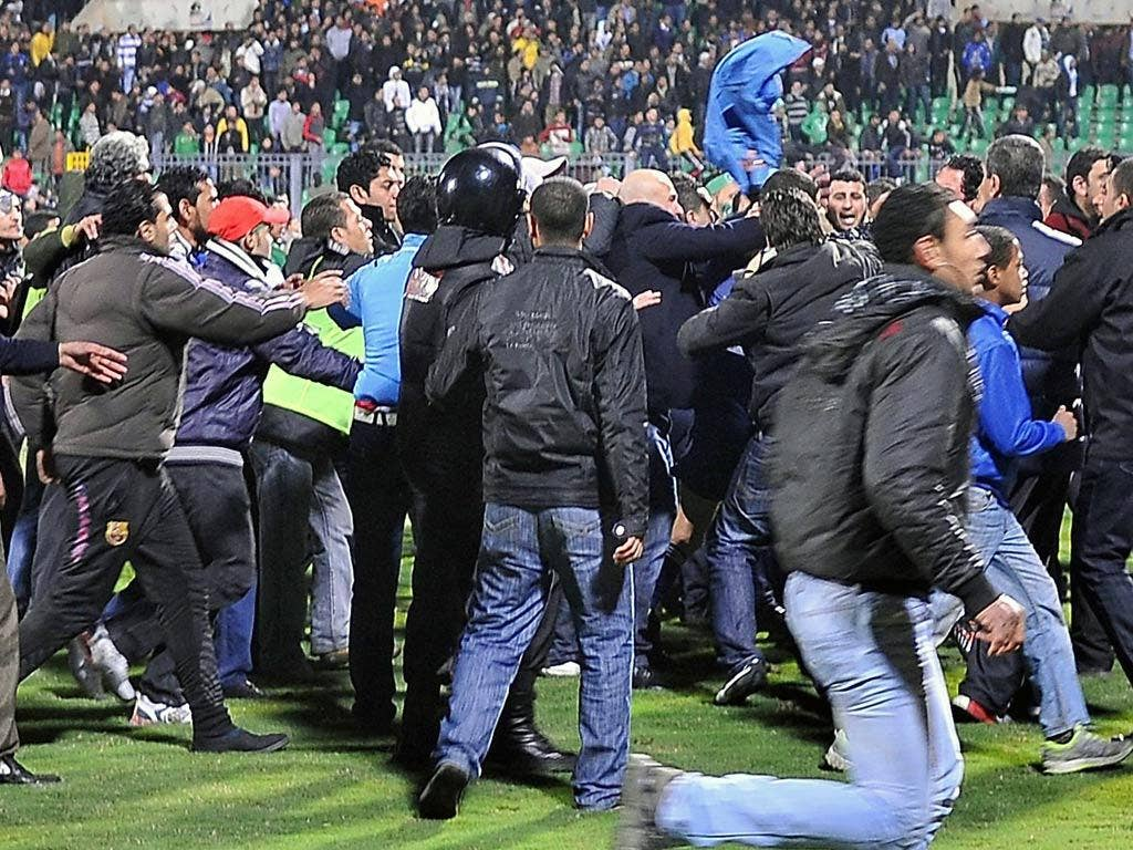 The pitch was invaded at full-time