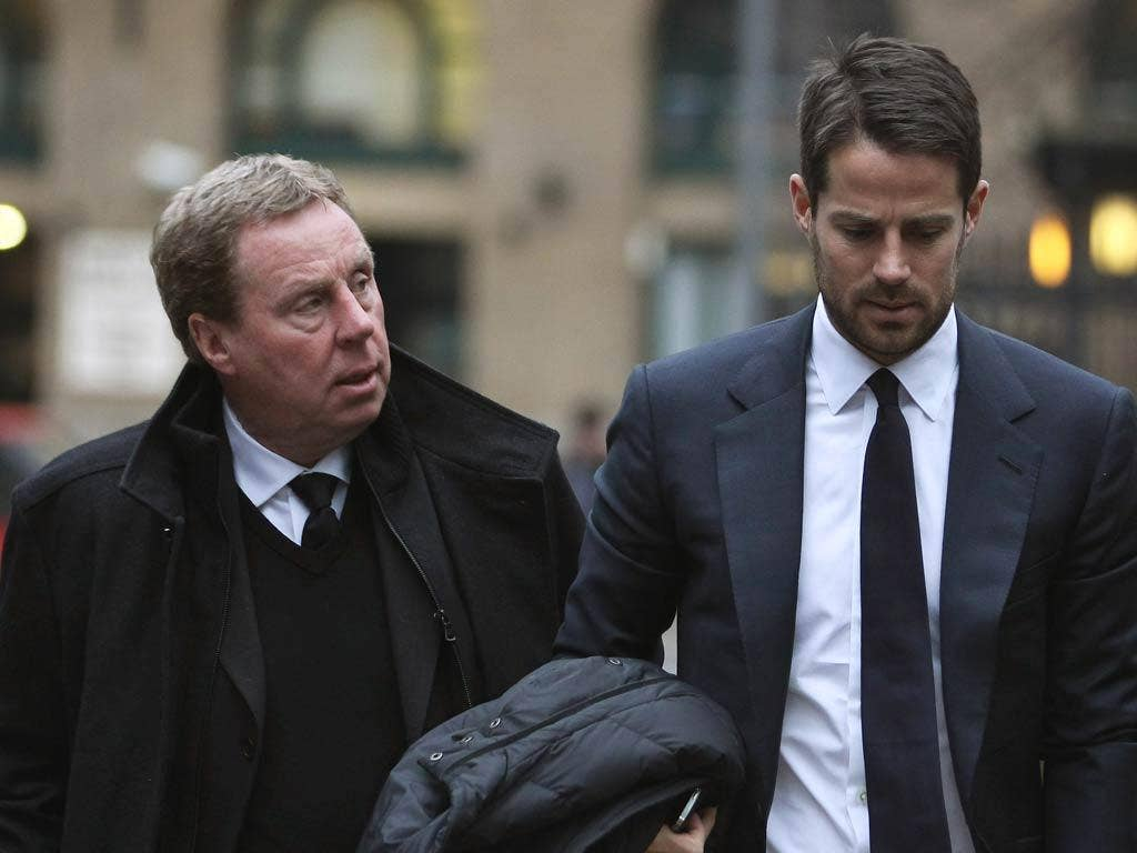 Harry Redknapp pictured arriving at court with son Jamie