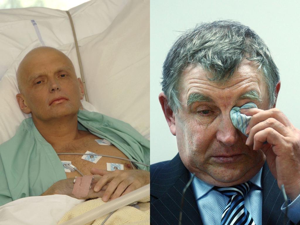Valter Litvinenko said his son Alexander, top, was a British spy