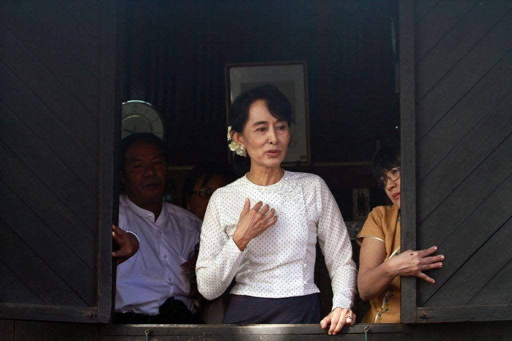 Campaign trail: Burma's opposition leader Aung San SuuKyi