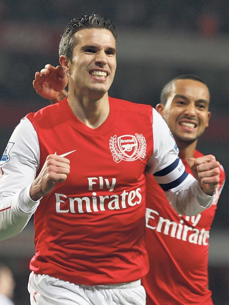 Two second-half penalties from Robin van Persie helped Arsenal recover against Aston Villa in the FA Cup – and their fans forget their earlier gripes