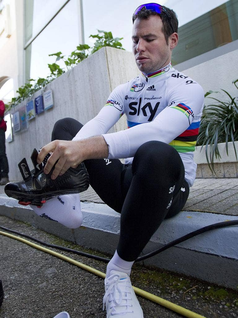 As the reigning world champion, Cavendish knows that he will be a marked man