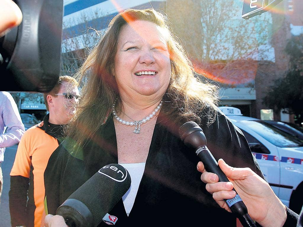 Gina Rinehart chairman of Hancock Prospecting, inherited her vast fortune from her father, Lang Hancock