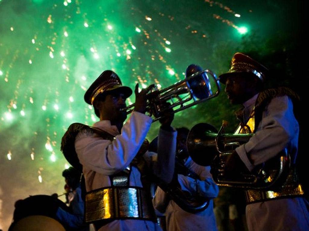 Stars of India: A brass band at a wedding in New Delhi