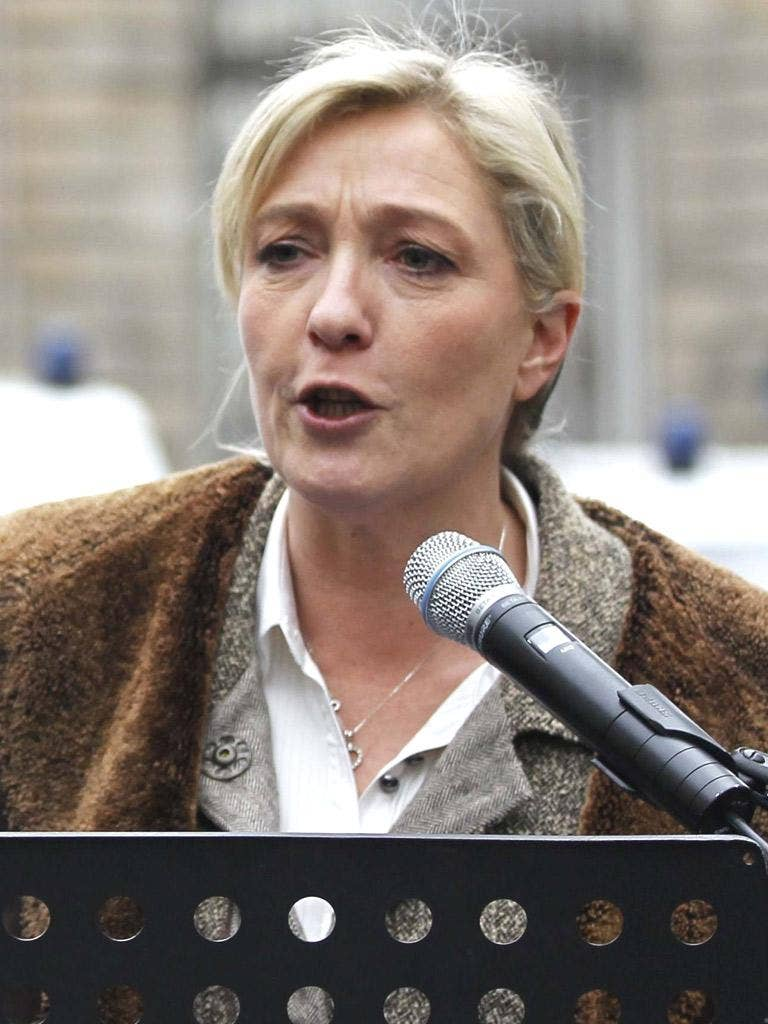 MARINE LE PEN: The NF leader is struggling to make the first-round ballot for the election