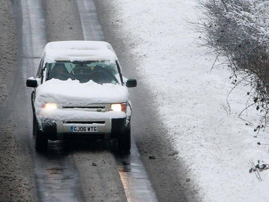 The Met Office has issued nine severe weather alerts, warning ice could be a hazard on roads and pavements across much of England and south-east Wales.