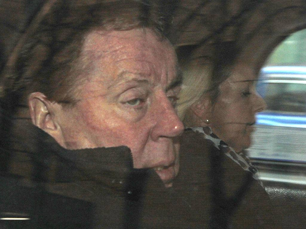 Harry Redknapp is rushed, in vain, from court to City Airport yesterday – his flight to Liverpool was grounded by technical problems