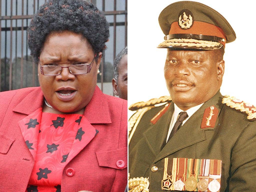Joyce Mujuru talks to the media after this week's inquest into the death of her husband, General Solomon Mujuru