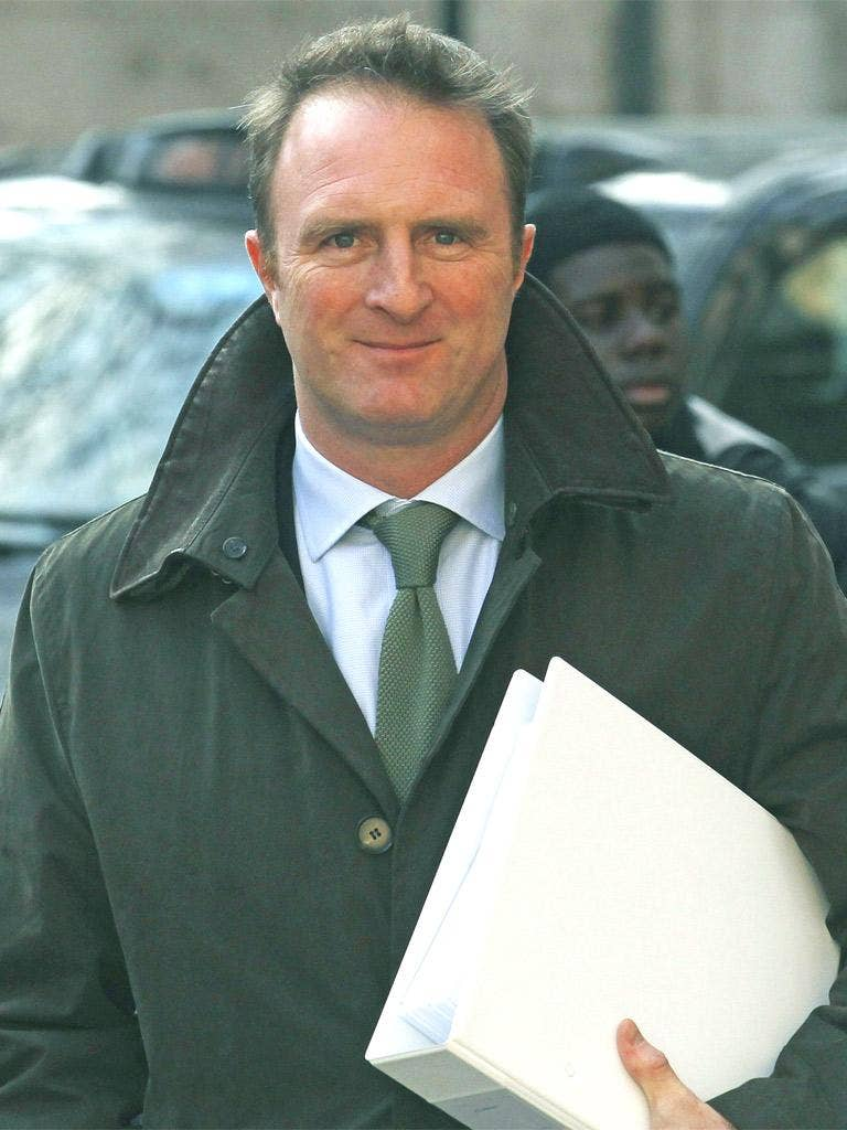 The editor of The Times, James Harding, arrives to give evidence at the Leveson Inquiry