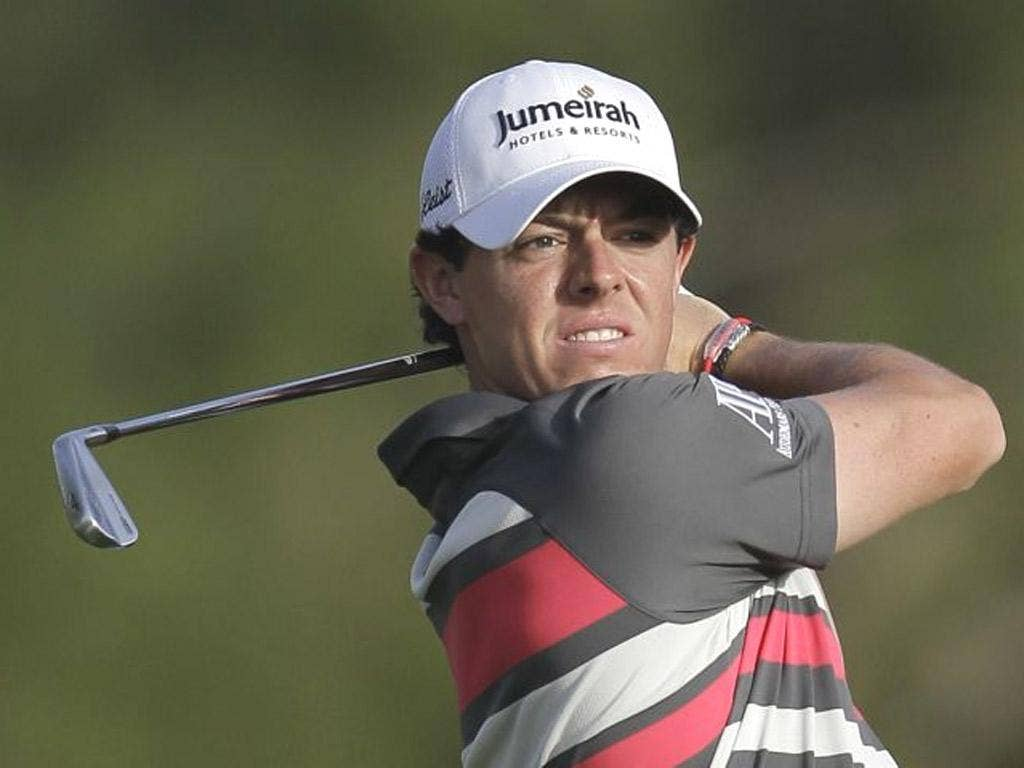 Rory McIlroy hit seven birdies after a slow start in Dubai