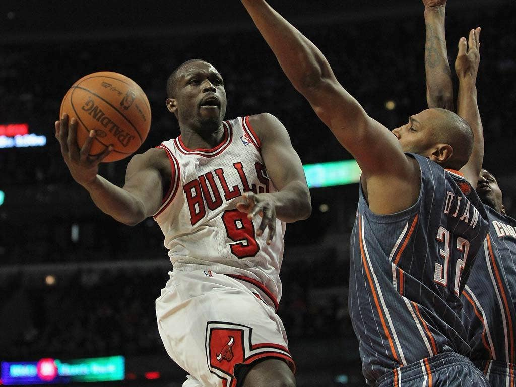 Luol Deng pictured in action for the Bulls