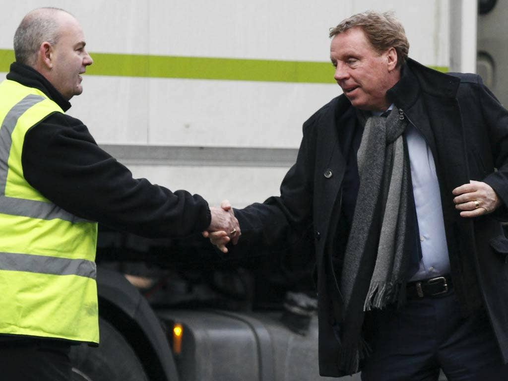 "Fan: ""All the best with England, Harry. That'll be taxing."" <br/><br/> Harry Redknapp: ""Yeah, apparently 50 per cent over £150,000."" (10/02/12)"