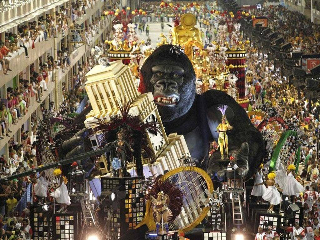 Thousands of foreign visitors will flock to Brazil for this month's carnival parades - but there are fears the parties could turn violent with few police or firefighters on the streets