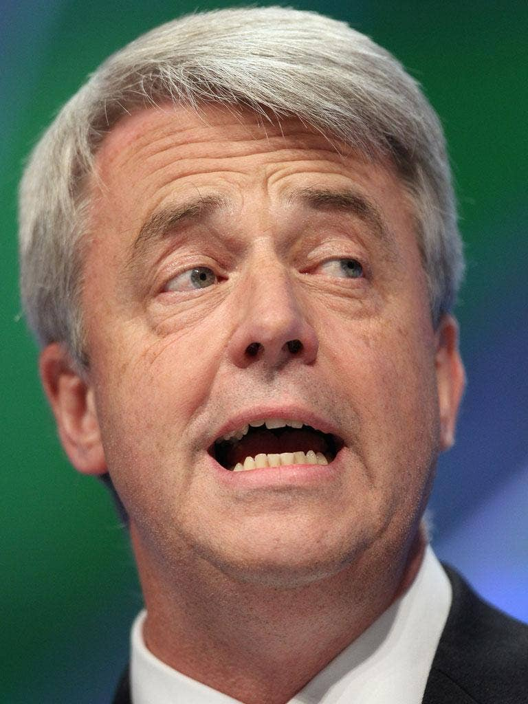 Andrew Lansley: The Health Secretary said he was determined to drive the Bill into law