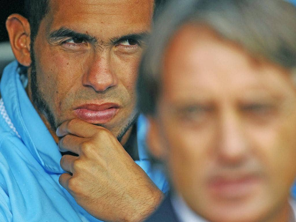 Out of the shadows: Tevez 'can help us in the last three months,' says Mancini