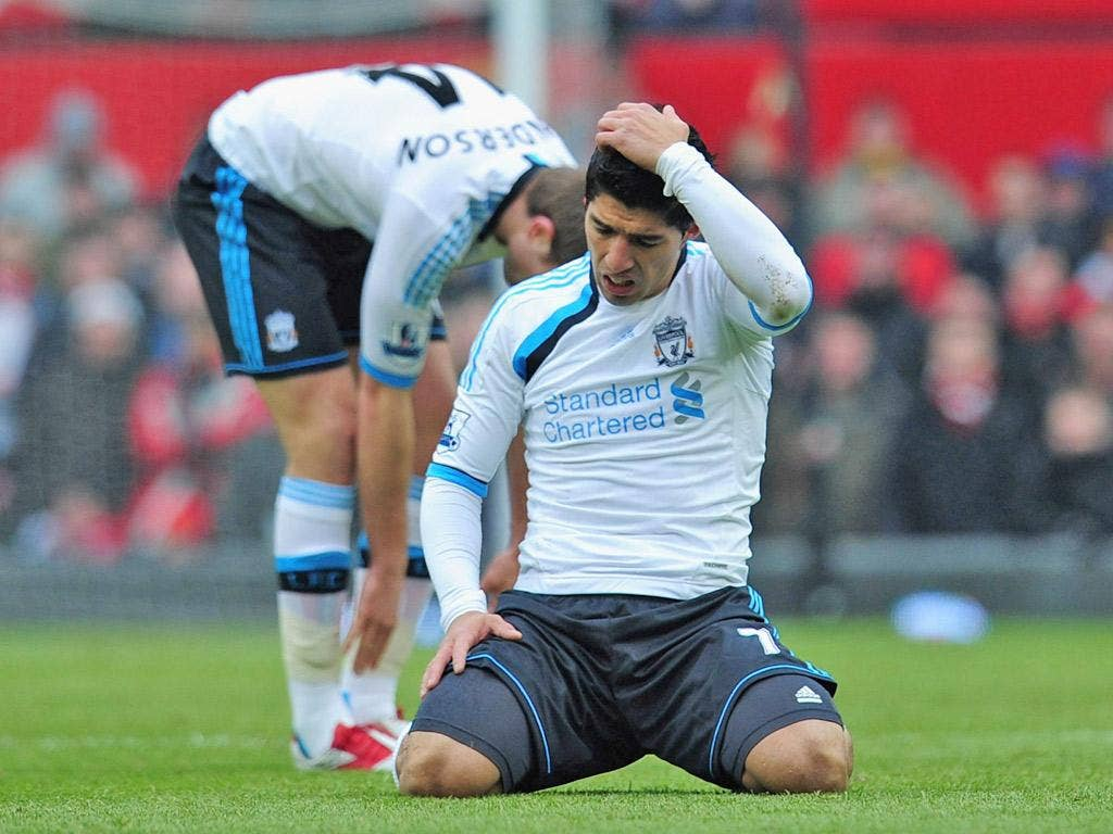Missed chance: Luis Suarez failed to draw a line under the racism row
