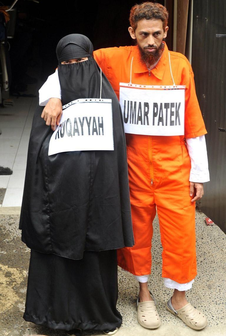 Umar Patek and his wife Siti Ruqayah