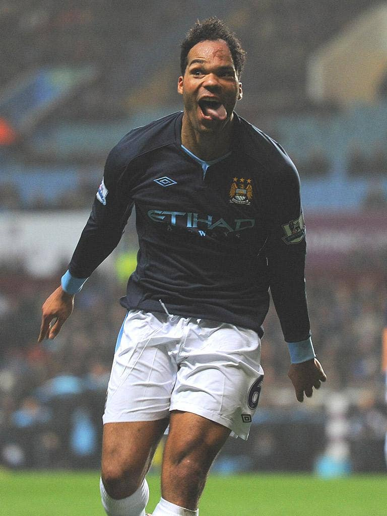 Joleon Lescott shows his joy – and his taste for goals – after scoring the winner