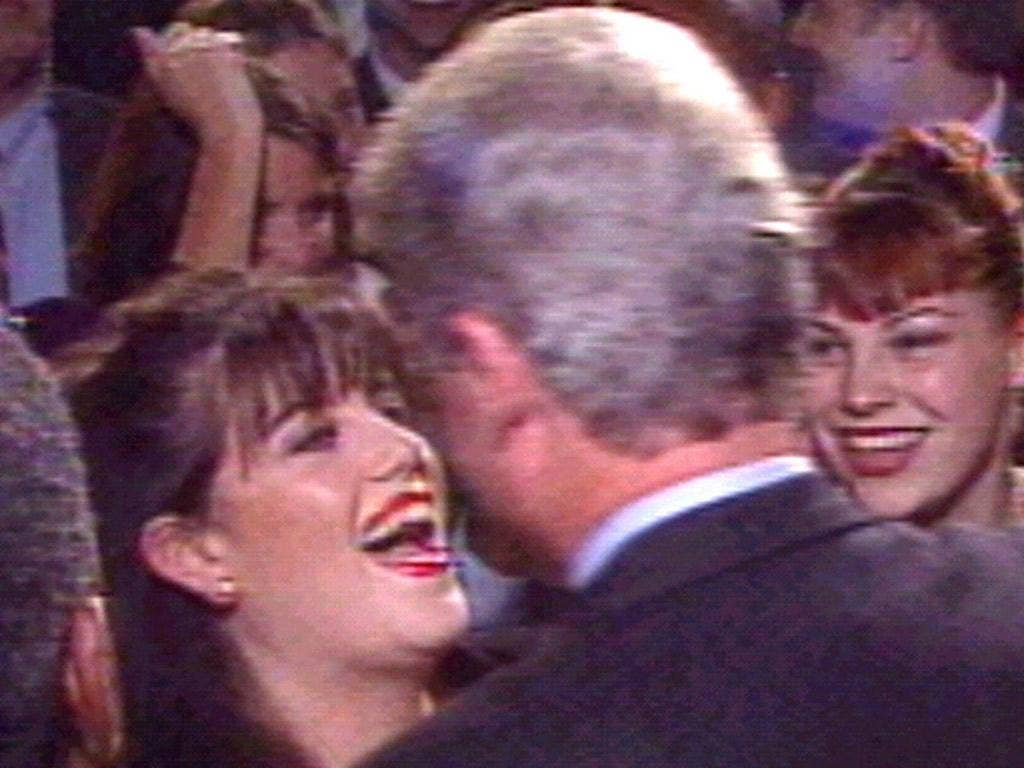 Monica Lewinsky and Bill Clinton before the scandal broke