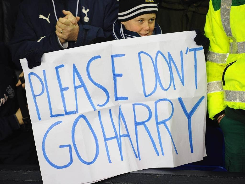 Tottenham fans are desperate to retain Redknapp