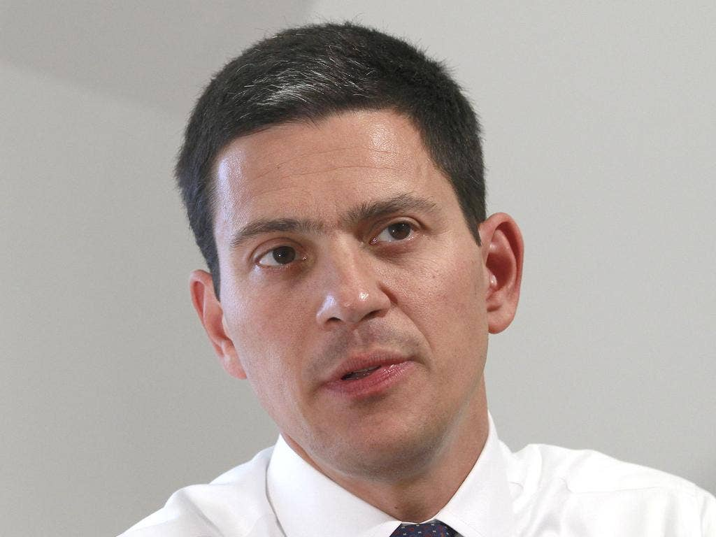DAVID MILIBAND: The ex-Foreign Secretary is aiming to win back former Labour voters
