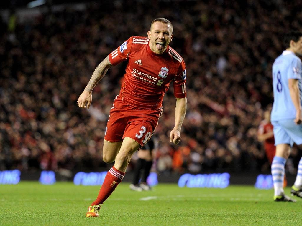 Craig Bellamy celebrates his semi-final goal