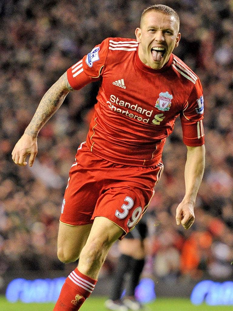 Craig Bellamy was Liverpool's player of the month for January
