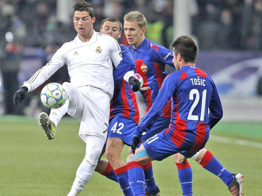 Cristiano Ronaldo opened the scoring for Real Madrid in Moscow