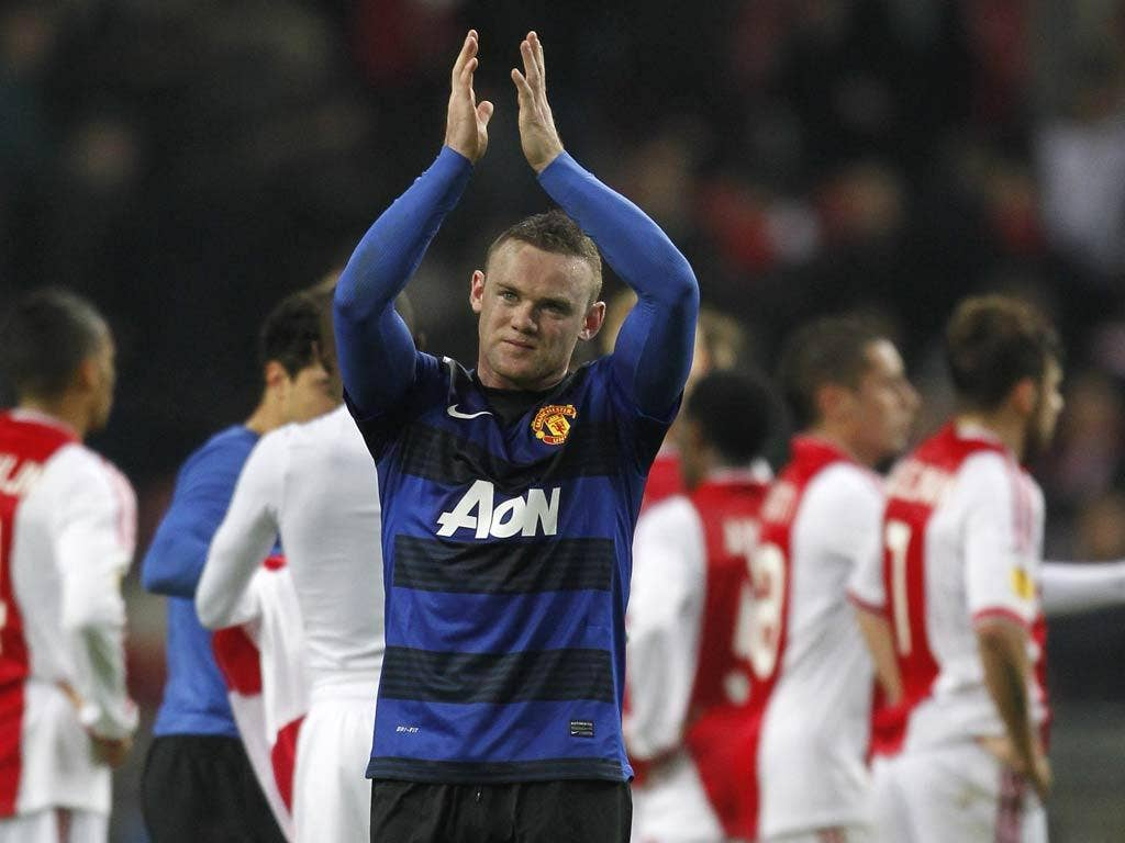 Rooney will miss the second-leg against Ajax