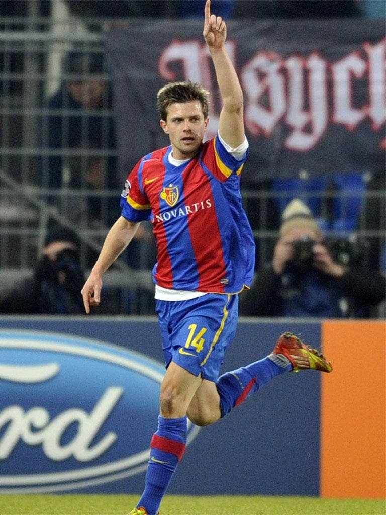 Stocker came off the bench to hit Basle's winner with four minutes to go