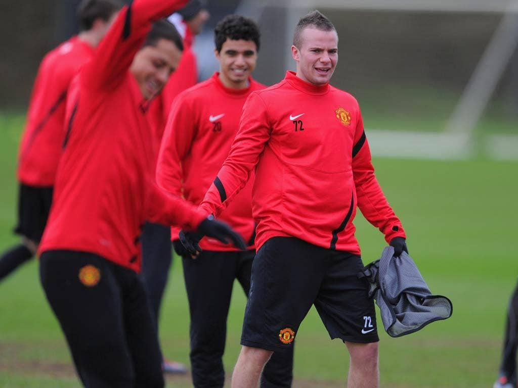 Tom Cleverley pictured in training