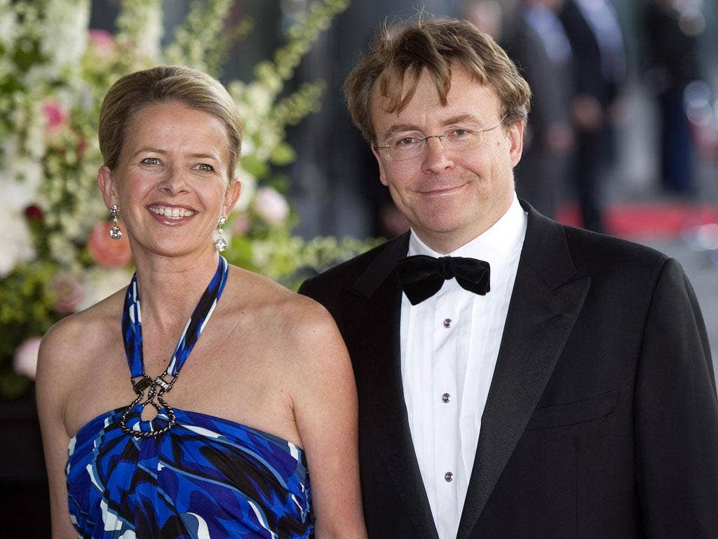 Dutch Prince Friso with his wife Princess Mabel