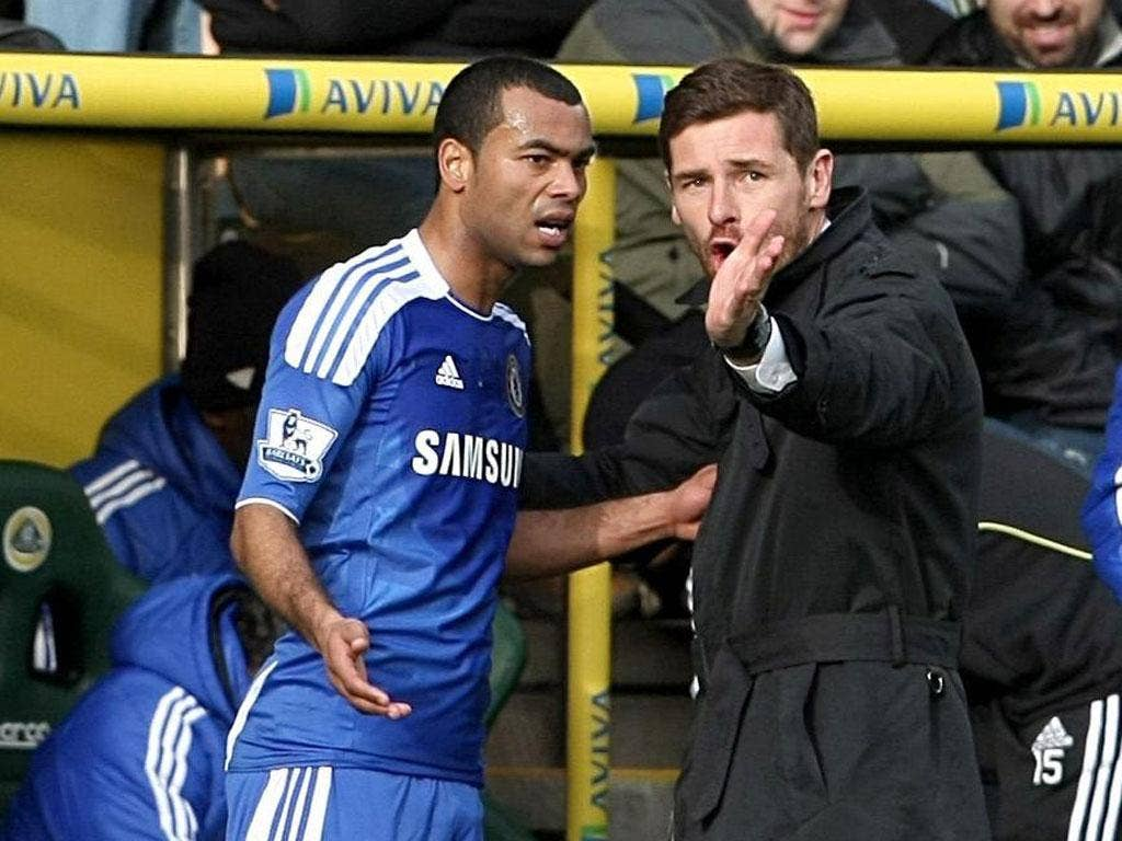 Chelsea's manager, Andre Villas-Boas, had had fallings-out with senior Blues players such as Ashley Cole (left)