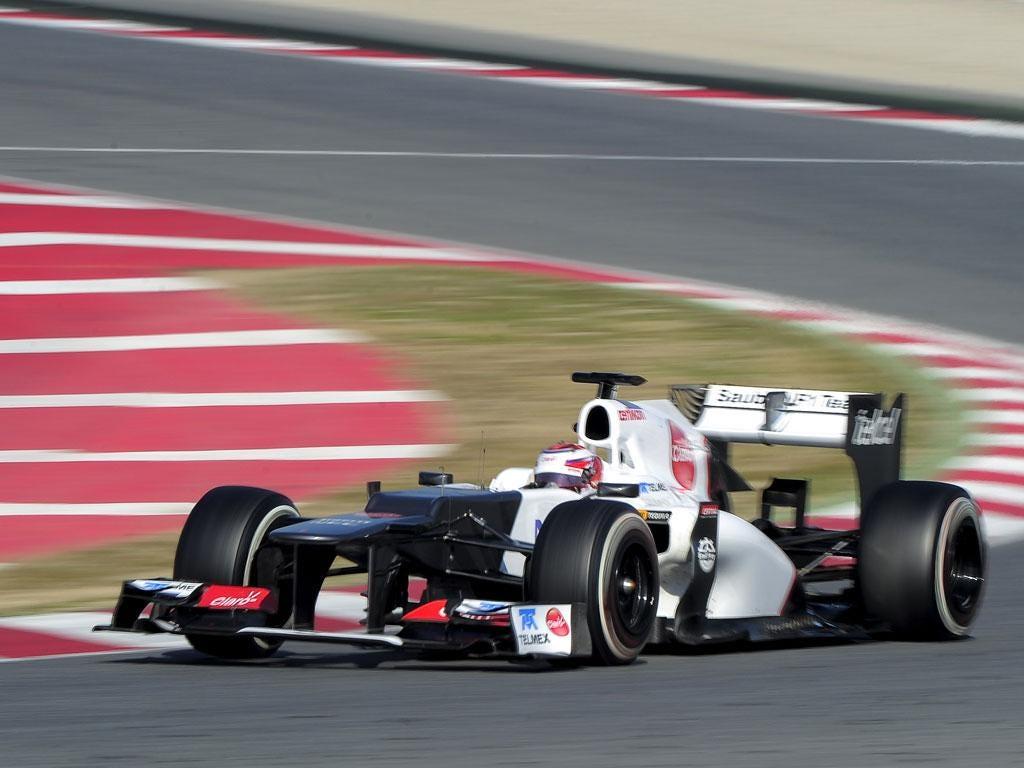 Japanese driver Kamui Kobayashi