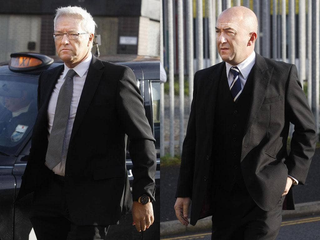 Hamish Slater (left) and Victor Buchini, two of those involved in the scam
