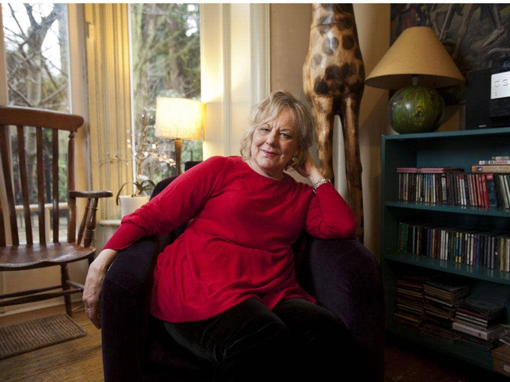 Sue Townsend now dictates to her son, Sean, whose kidney she received in 2009
