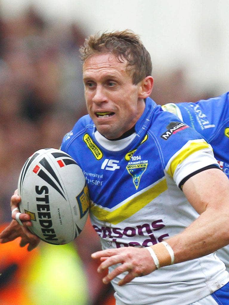 BRETT HODGSON: The full-back was his usual reliable self on his return to the Warrington side