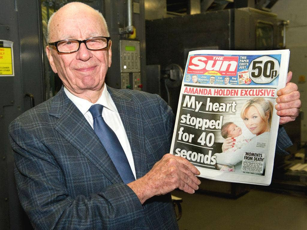 Rupert Murdoch tweeted that more than 3 million copies of The Sun's new edition were sold