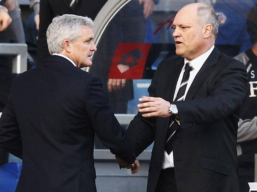 A 1-0 defeat against his former side left Queens Park Rangers manager Mark Hughes riled after the final whistle as he fell out with his successor at Fulham, Martin Jol, after the final whistle. The pair shook hands as usual