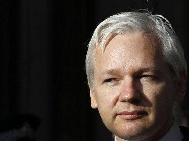 Julian Assange would not reveal where today's emails had come from