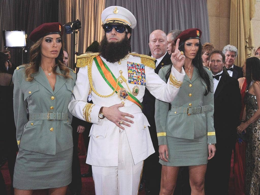 The star of forthcoming fictional bio-com The Dictator, Sacha Baron Cohen made headlines before he even arrived
