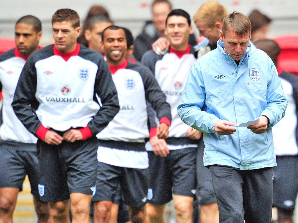 Stuart Pearce might have written down the England team but he is not letting anyone know