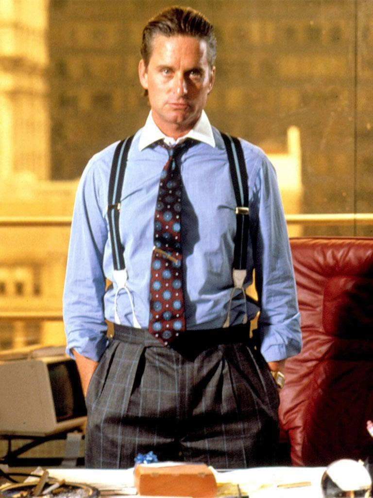 Michael Douglas as Gordon Gekko in 'Wall Street'