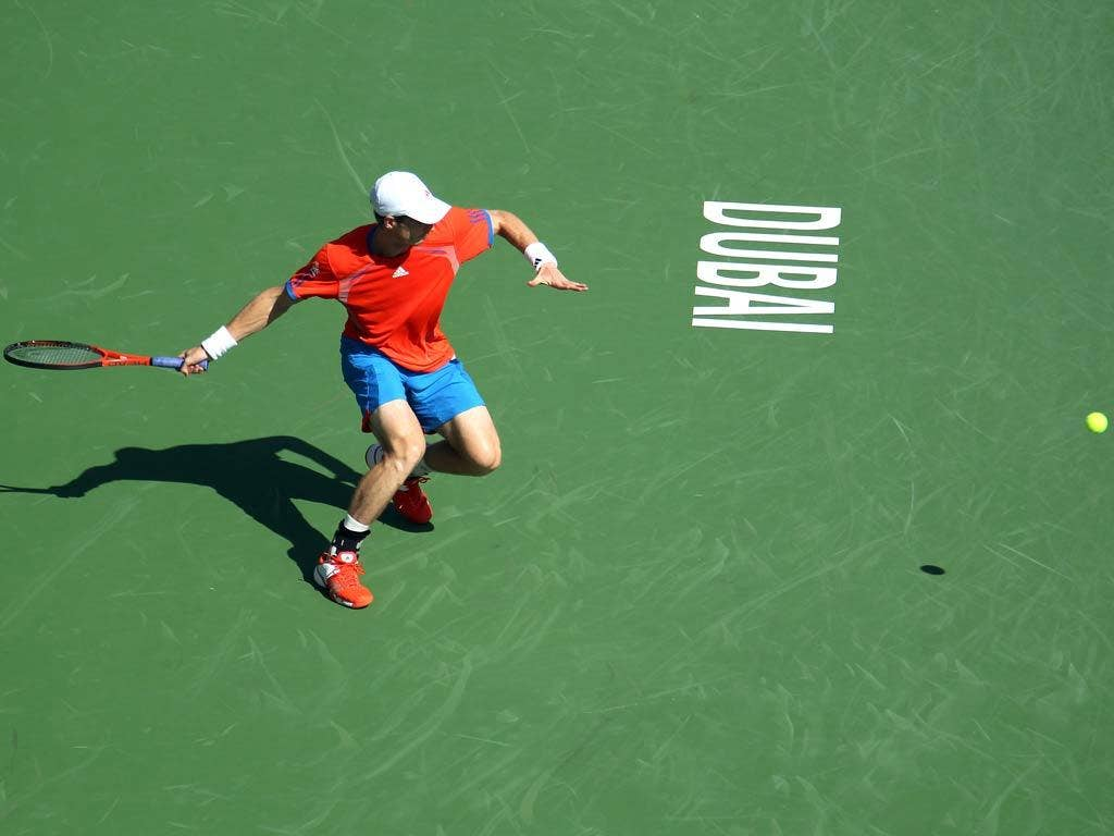 Murray in action in Dubai
