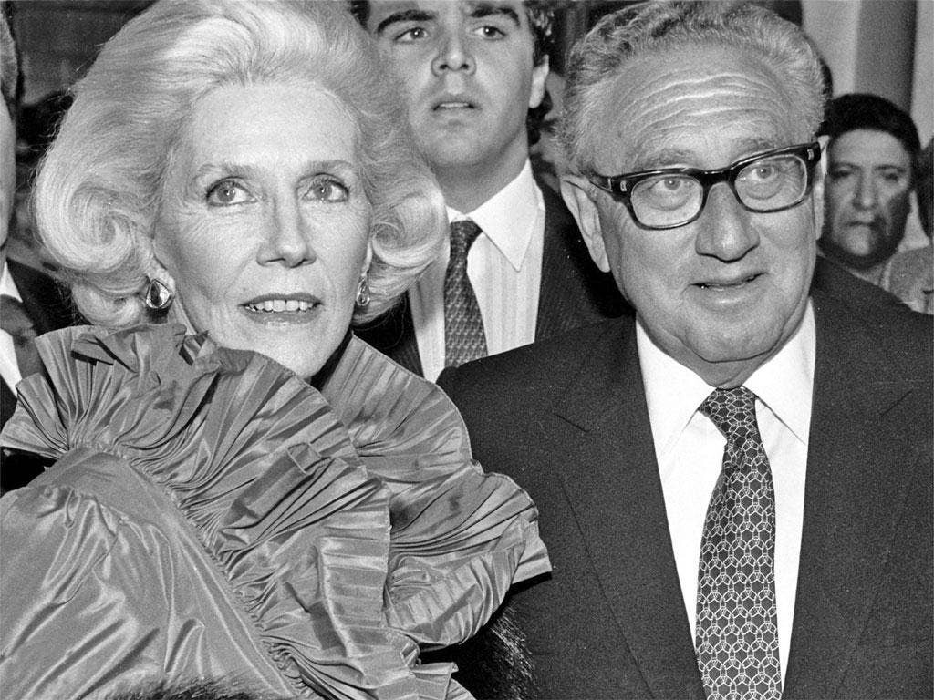 Friends in high places: Lacroze de Fortabat with Henry Kissinger