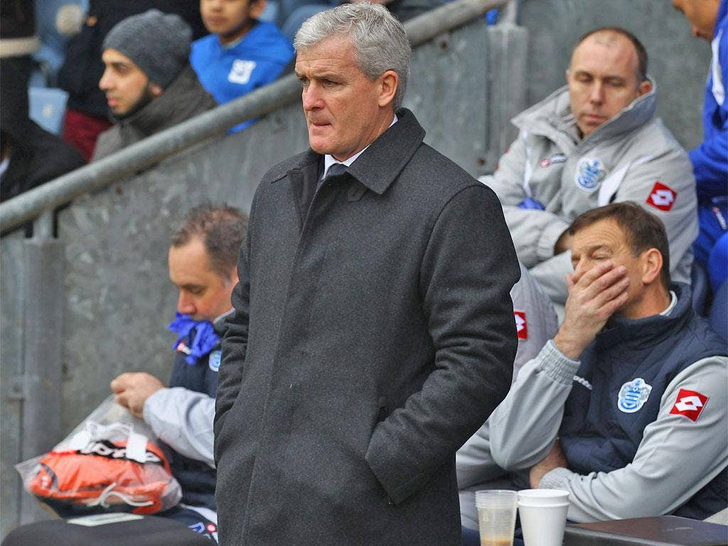 Only goal difference is keeping Mark Hughes' QPR out of the Premier League relegation zone