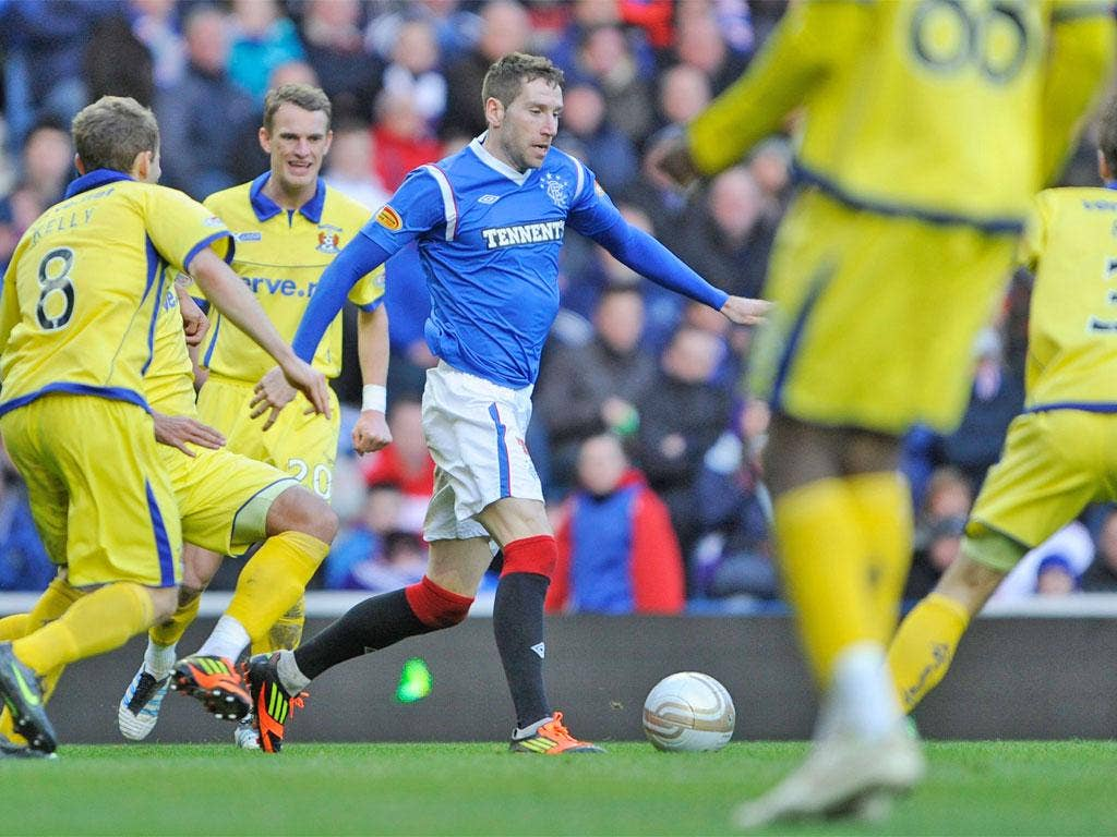 Kirk Broadfoot says the pressure is still on Rangers to win games