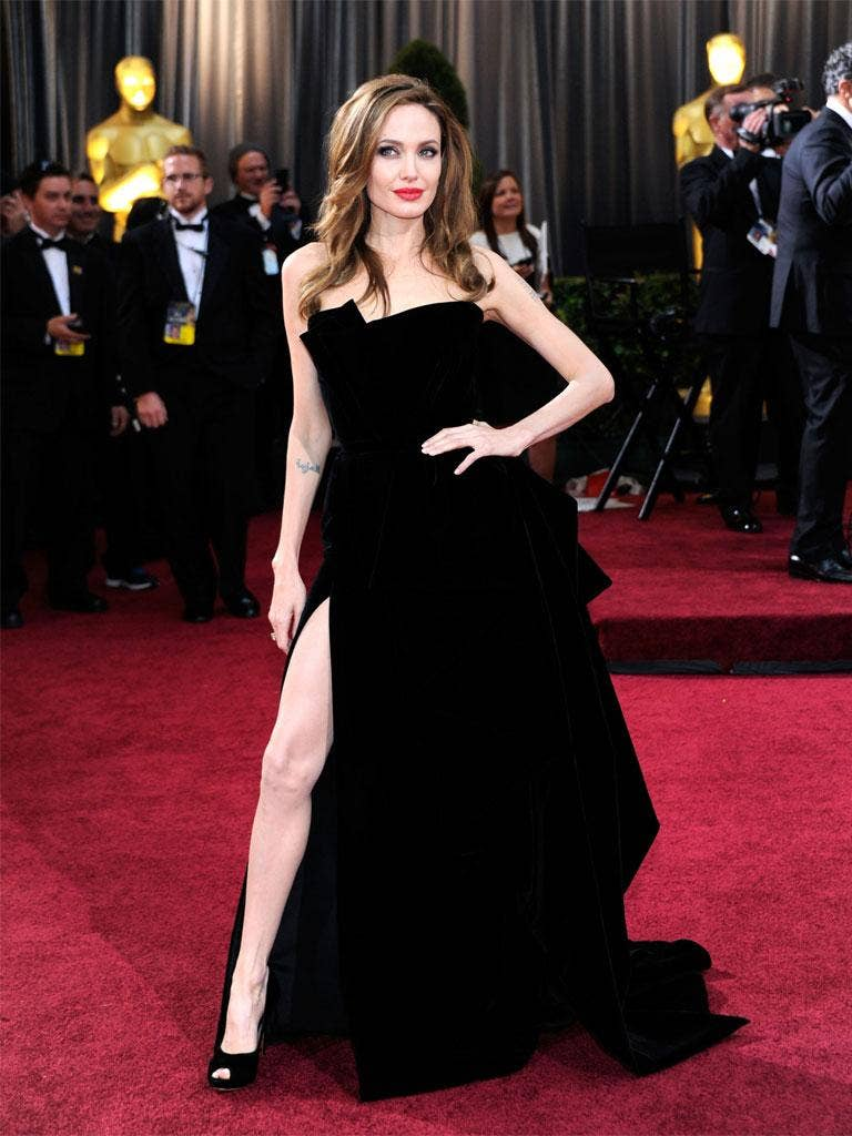 Angelina Jolie - or at least one of her legs - caused a stir at the Oscars this week
