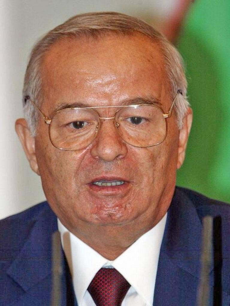 Uzbekistan is one of the world's most vicious dictatorships with no dissent tolerated. On the one occasion, in the city of Andijan in 2005, Mr Karimov's security forces opened fire on the protesters, killing hundreds. The Uzbek regime refused to allow an