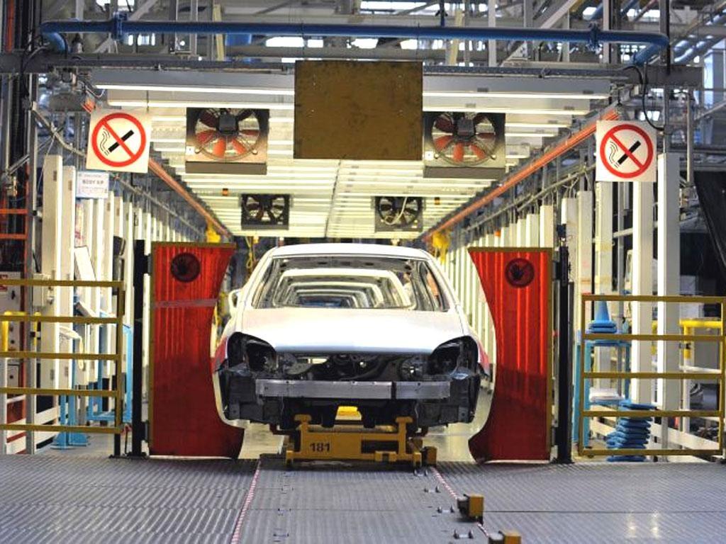 The car assembly line at Ellesmere Port